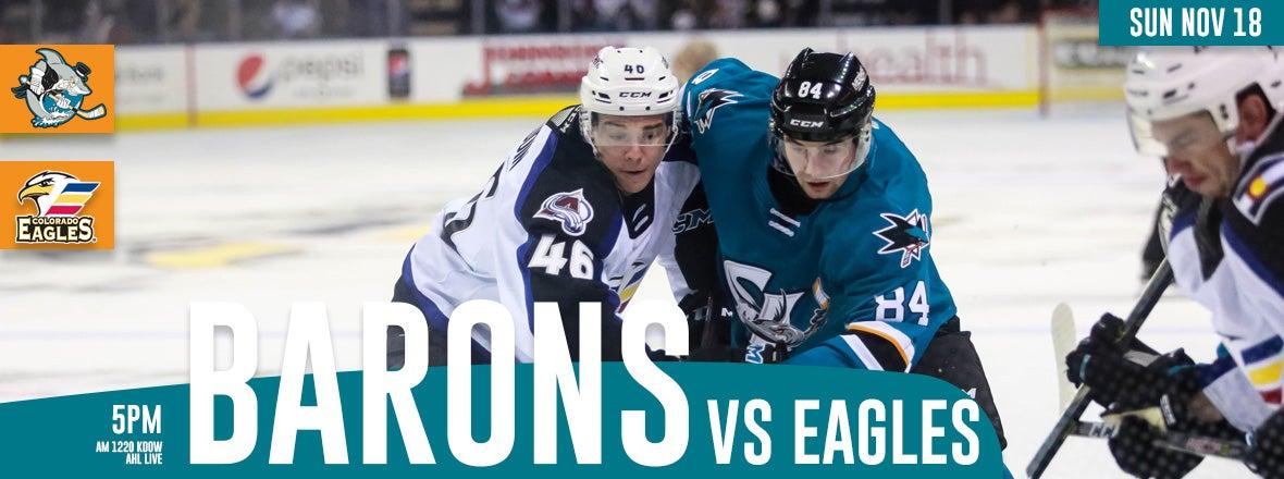 GAMEDAY: BARONS VS. EAGLES