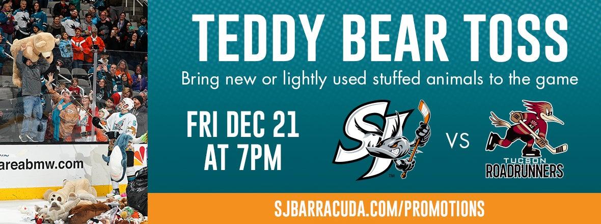 TEDDY BEAR TOSS NIGHT SET FOR FRIDAY, DEC. 21