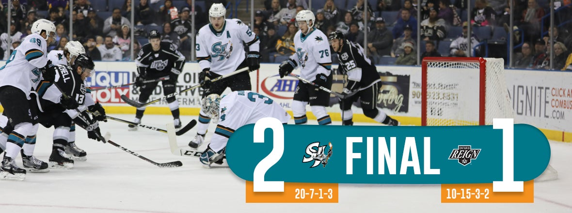 BIBEAU STOPS 32 AS THE BARRACUDA HOLD OFF ONTARIO 2-1