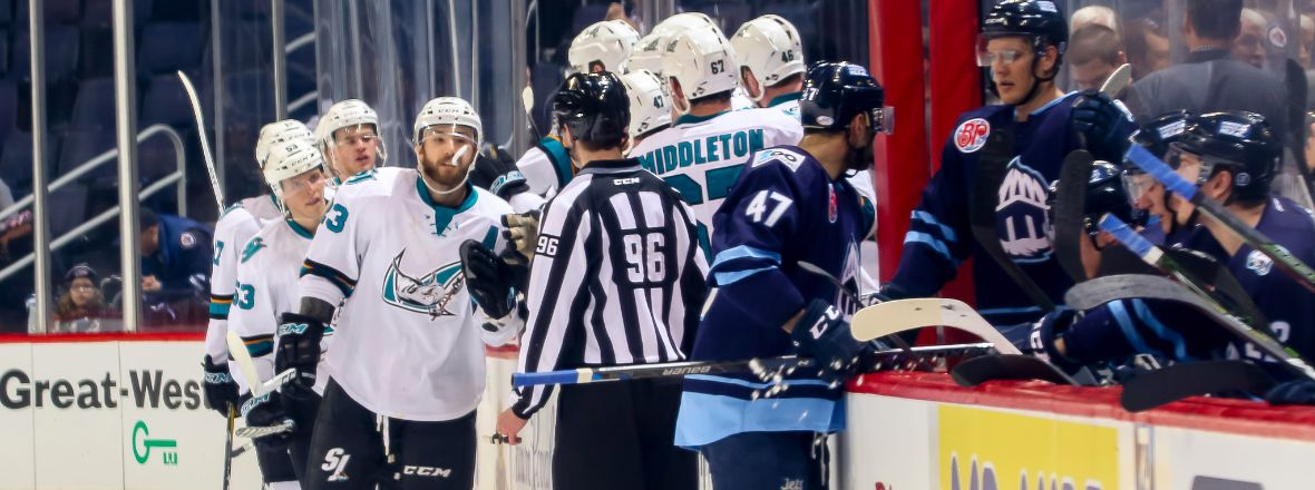 BARRACUDA TRAMPLE MOOSE WITH 3 POWER-PLAY GOALS