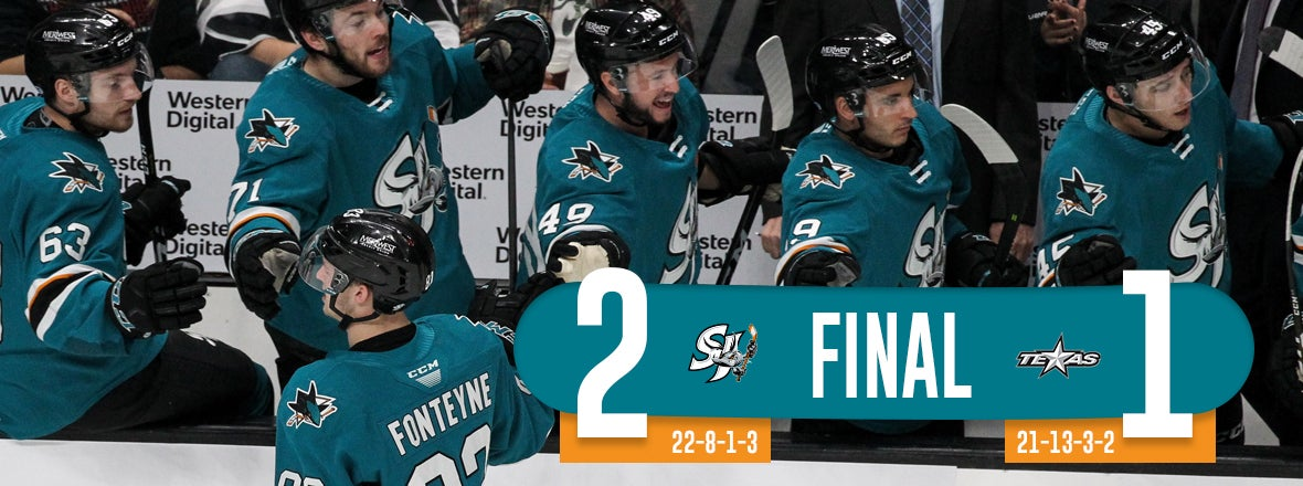 BARRACUDA FEND OFF STARS, COLLECT 2-1 WIN