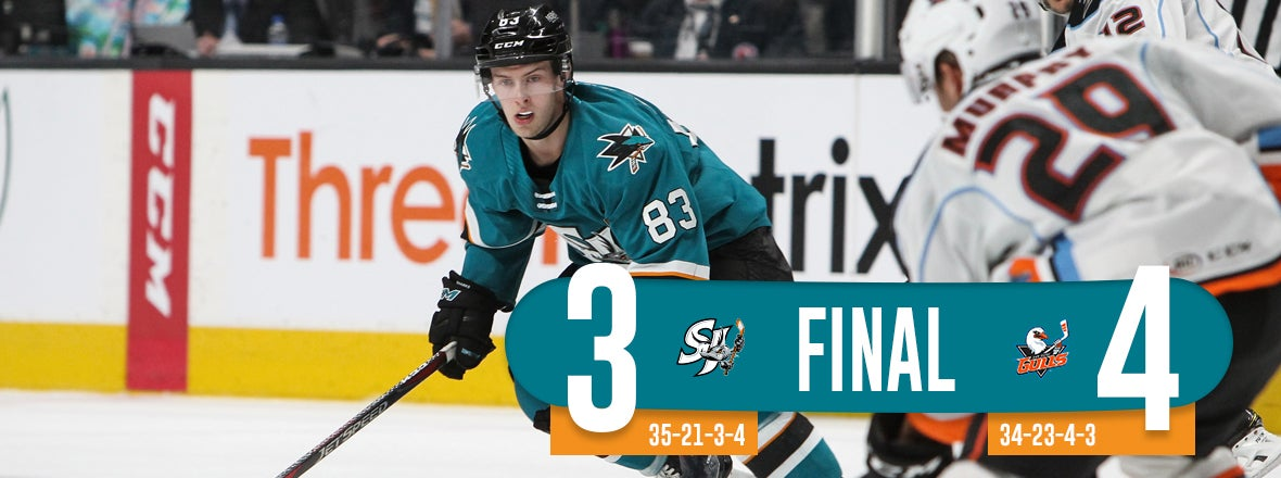 BARRACUDA UPENDED BY SAN DIEGO 4-3