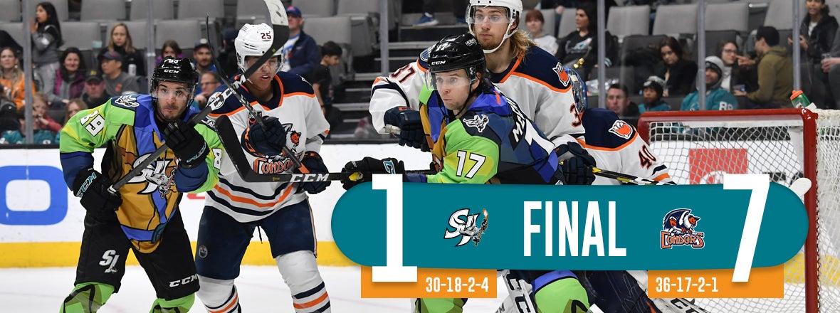 BARRACUDA STUMBLE AT HOME, FALL 7-1 TO BAKERSFIELD