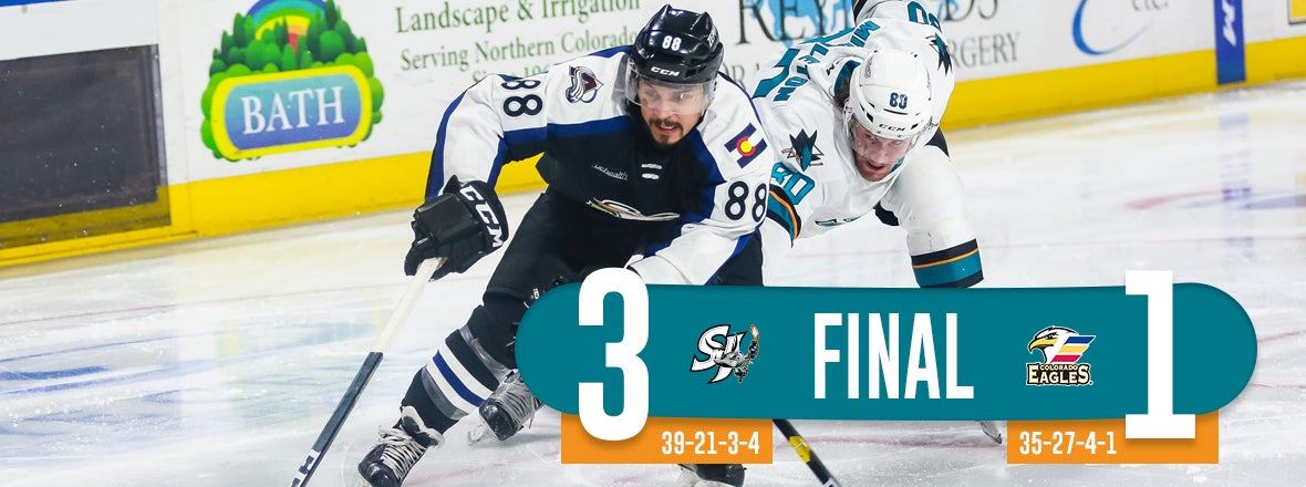 BARRACUDA PUT EAGLES PLAYOFF HOPES IN DOUBT AFTER 3-1 WIN