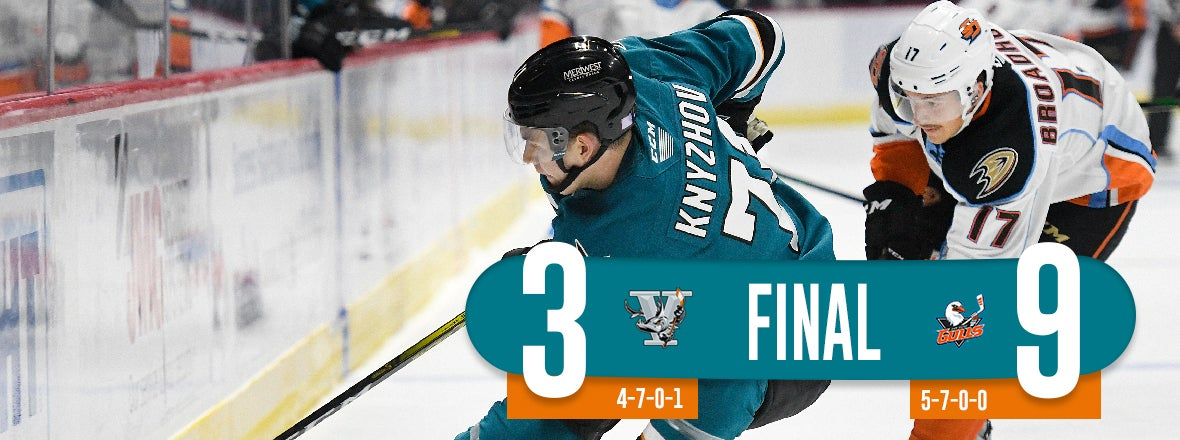 BARRACUDA ALLOW FIVE IN THE THIRD, FALL 9-3 AT SAN DIEGO