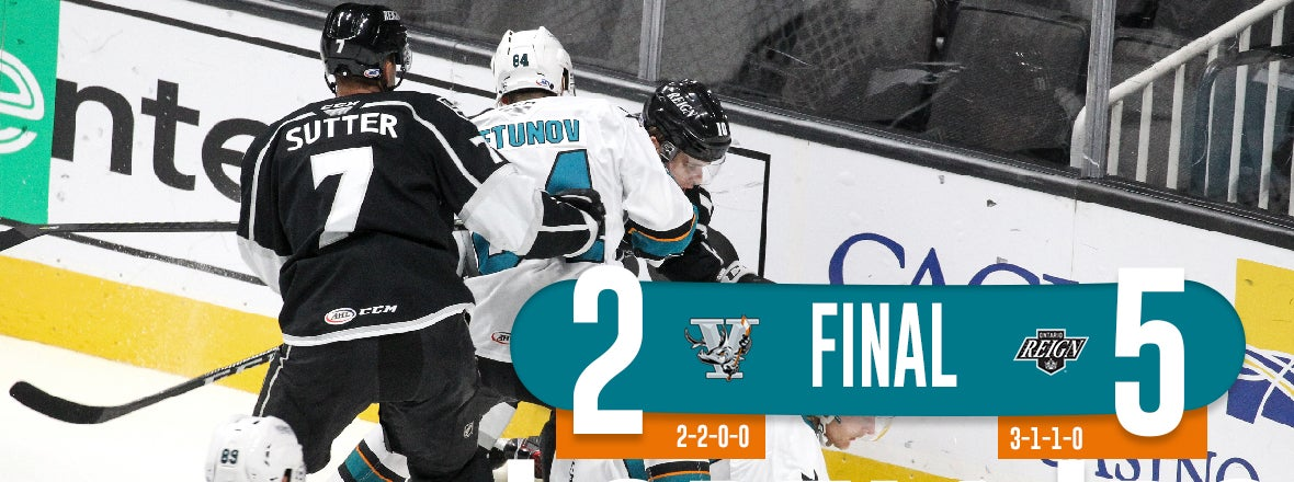 BARRACUDA GIVE UP THREE IN THE FIRST, FALL 5-2 TO REIGN