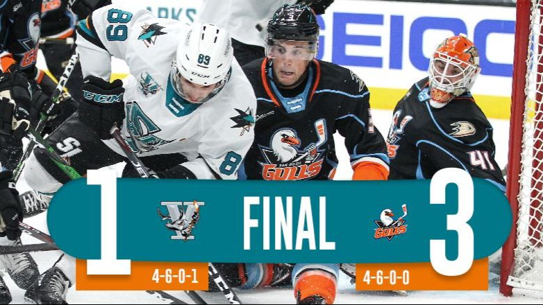 BARRACUDA DOWNED 3-1 BY RED-HOT GULLS