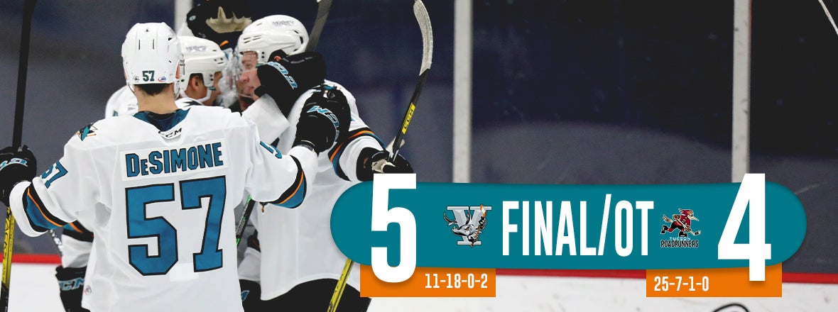 BARRACUDA SNAP SKID WITH 5-4 OT WIN AT TUCSON