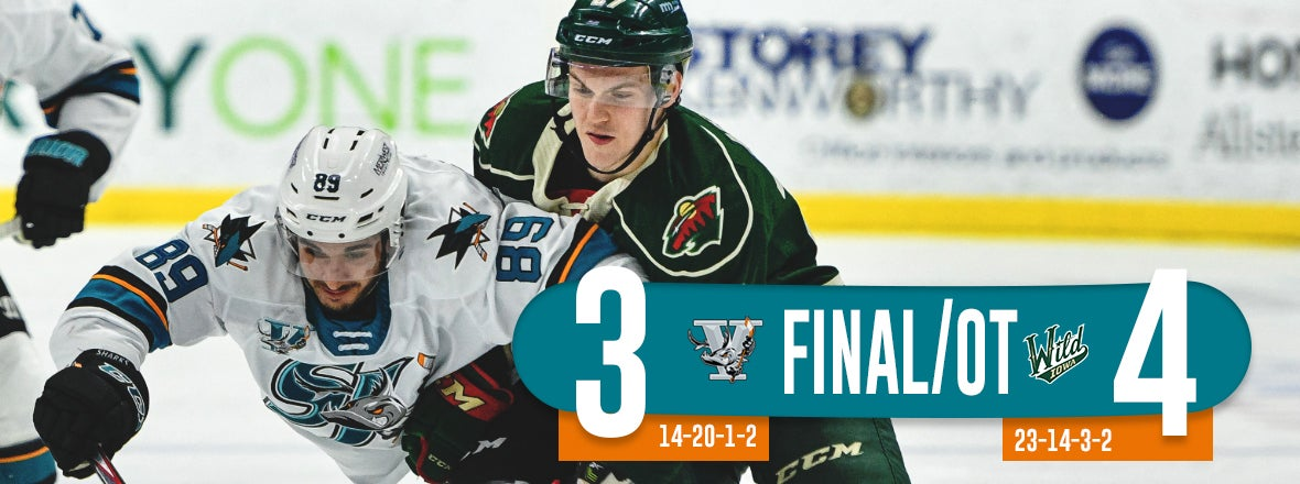 BARRACUDA EARN POINT IN OT LOSS AT WILD