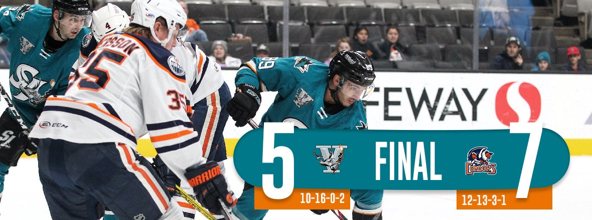 BARRACUDA COMEBACK ATTEMPT FALLS SHORT, BESTED 7-5 BY CONDORS