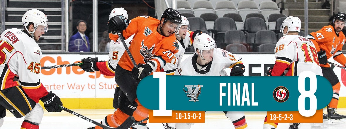 SAN JOSE DOOMED BY FIVE-GOAL SECOND, DROPPED 8-1