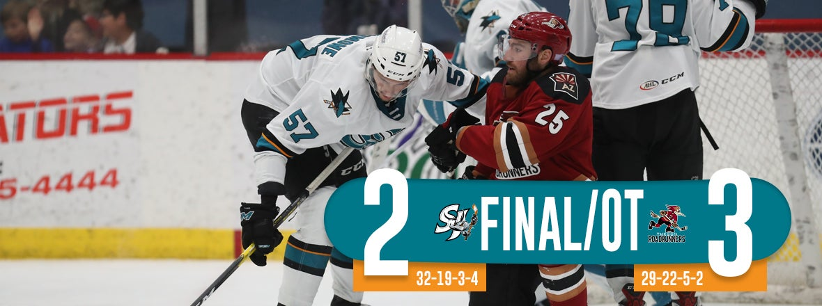 BARRACUDA EARN POINT IN OVERTIME LOSS AT TUCSON