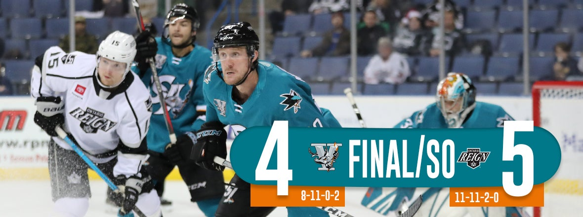 BARRACUDA EARN POINT IN SHOOTOUT LOSS AT ONTARIO