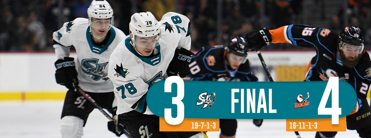 BARRACUDA EDGED BY THE AHL'S HOTTEST TEAM