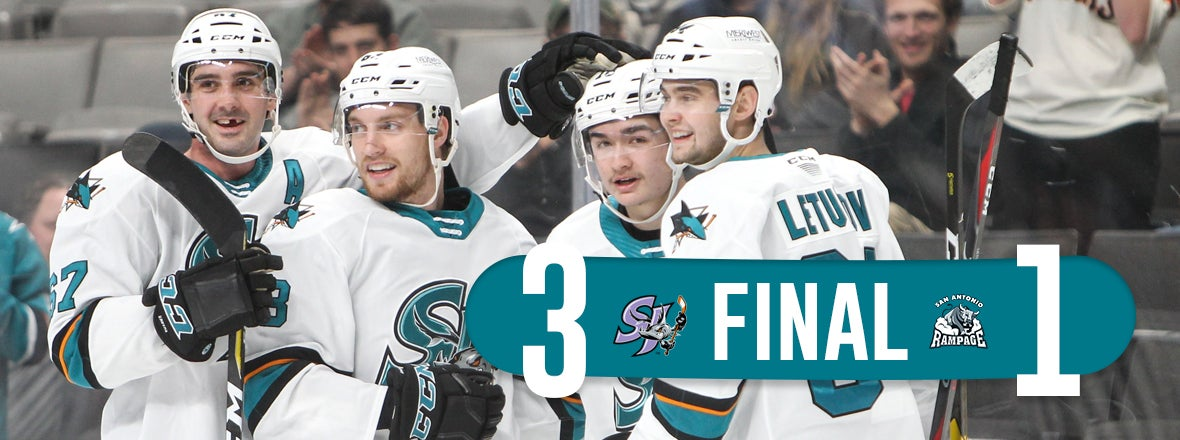 BARRACUDA NOTCH THIRD WIN IN A ROW, SWEEP RAMPAGE