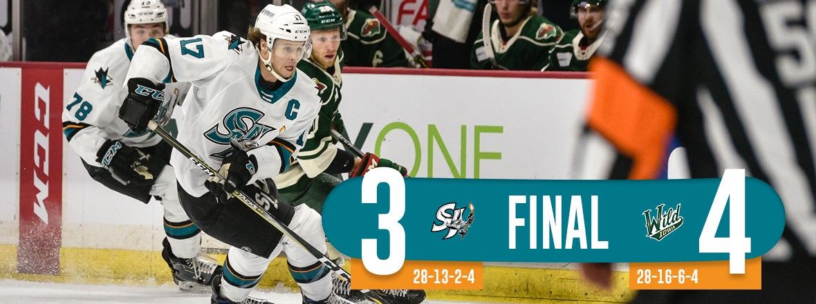 BARRACUDA OUTLASTED BY WILD, 4-3