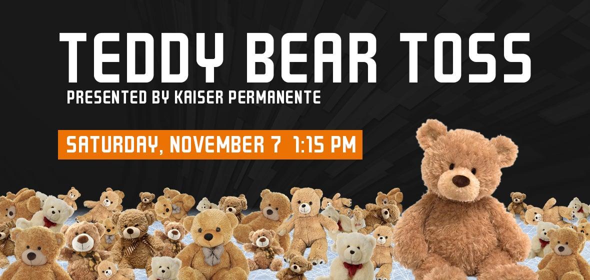 San Jose Barracuda Host Teddy Bear Toss On Nov 7 Presented By Kaiser