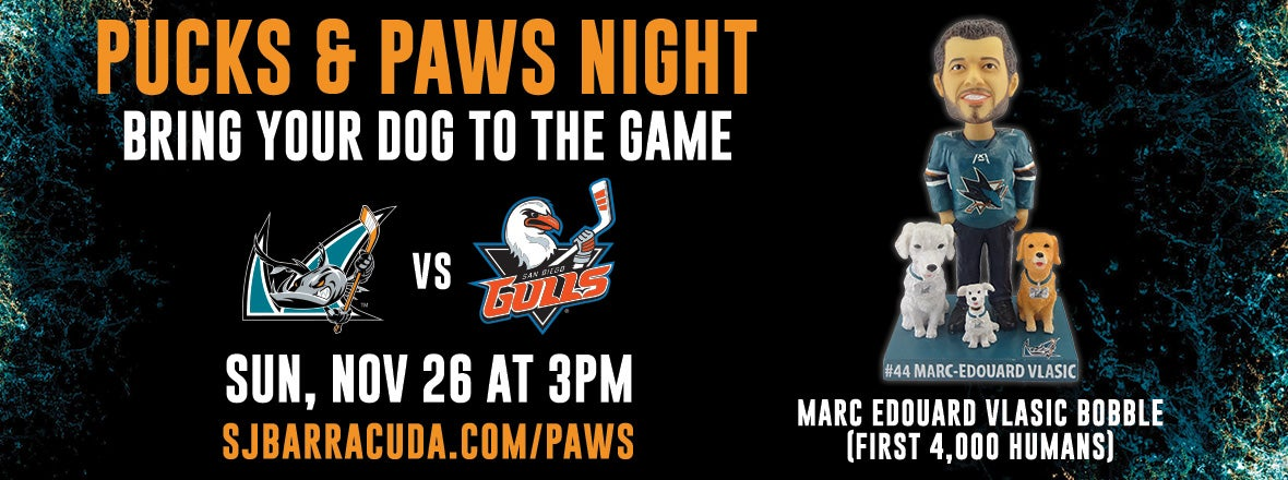 PUCKS AND PAWS GAME