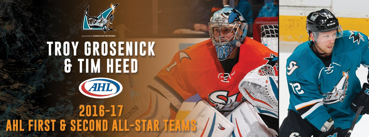 GROSENICK NAMED TO THE 2016-17 FIRST AHL ALL-STAR TEAM