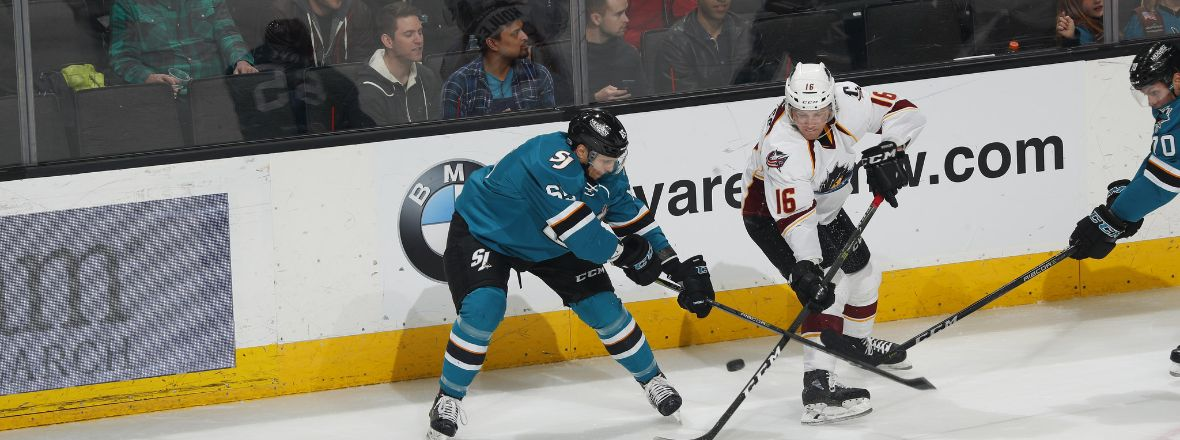 MCCARTHY'S HAT-TRICK LIFTS SAN JOSE OVER CLEVELAND, 6-2