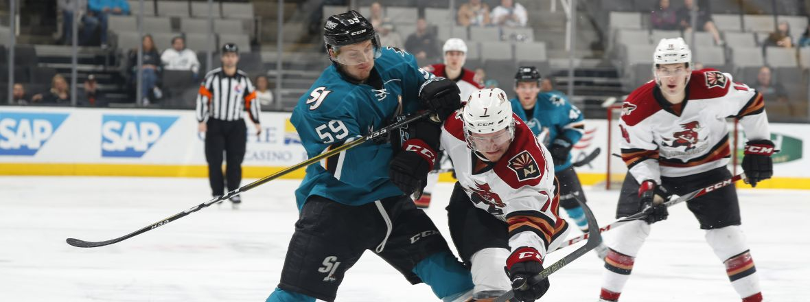 BARRACUDA EARN POINT IN 4-3 SHOOTOUT LOSS TO TUCSON