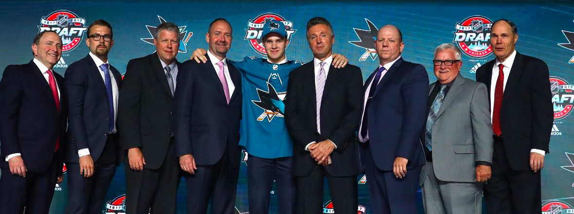 SHARKS CONCLUDE 2017 NHL DRAFT WITH SIX SELECTIONS